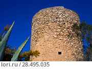 Купить «Javea denia San antonio Cape old windmills masonry structure in Alicante province spain», фото № 28495035, снято 3 февраля 2013 г. (c) Ingram Publishing / Фотобанк Лори