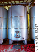 Купить «Stainless steel fermentation tanks vessels indoor of mediterranean winery», фото № 28495527, снято 4 сентября 2013 г. (c) Ingram Publishing / Фотобанк Лори