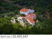 Купить «Menorca traditional Mediterranean houses aerial view from Pico del Toro», фото № 28495647, снято 30 мая 2013 г. (c) Ingram Publishing / Фотобанк Лори