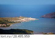 Купить «Menorca Fornells aerial view from Pico del Toro in Balearic islands», фото № 28495959, снято 30 мая 2013 г. (c) Ingram Publishing / Фотобанк Лори