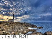 Купить «Cap de Favaritx sunset lighthouse cape in Mahon at Balearic Islands of Spain», фото № 28496011, снято 28 мая 2013 г. (c) Ingram Publishing / Фотобанк Лори