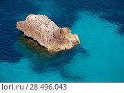 Купить «Cala Macarella Ciutadella Menorca turquoise Mediterranean sea in Balearic islands», фото № 28496043, снято 25 мая 2013 г. (c) Ingram Publishing / Фотобанк Лори