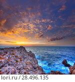 Купить «Menorca Punta Nati sunset in Ciutadella Balearic Islands at Mediterranean sea», фото № 28496135, снято 24 мая 2013 г. (c) Ingram Publishing / Фотобанк Лори