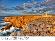 Купить «Menorca Punta Nati Faro lighthouse in Ciutadella Balearic Islands of Spain», фото № 28496151, снято 24 мая 2013 г. (c) Ingram Publishing / Фотобанк Лори