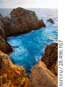 Купить «Menorca Punta Nati sunset in Ciutadella Balearic Islands at Mediterranean sea», фото № 28496167, снято 24 мая 2013 г. (c) Ingram Publishing / Фотобанк Лори