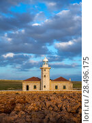 Купить «Menorca Punta Nati Faro lighthouse in Ciutadella Balearic Islands of Spain», фото № 28496175, снято 24 мая 2013 г. (c) Ingram Publishing / Фотобанк Лори