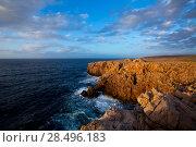 Купить «Menorca Punta Nati sunset in Ciutadella Balearic Islands at Mediterranean sea», фото № 28496183, снято 24 мая 2013 г. (c) Ingram Publishing / Фотобанк Лори