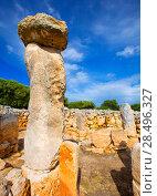 Купить «Taules of Menorca Torre de en Gaumes Galmes at Balearic islands of Spain», фото № 28496327, снято 29 мая 2013 г. (c) Ingram Publishing / Фотобанк Лори