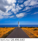 Купить «Barbaria cape Lighthouse in Formentera Mediterranean Balearic islands of Spain», фото № 28496643, снято 30 июня 2013 г. (c) Ingram Publishing / Фотобанк Лори