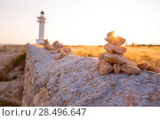 Купить «Barbaria cape Lighthouse in Formentera Mediterranean Balearic islands of Spain», фото № 28496647, снято 30 июня 2013 г. (c) Ingram Publishing / Фотобанк Лори
