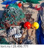 Купить «Formentera Balearic Islands fishing tackle nets longliner trawler trammel», фото № 28496771, снято 30 июня 2013 г. (c) Ingram Publishing / Фотобанк Лори