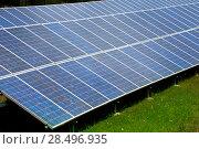 Купить «Solar plates for green sun energy in a row», фото № 28496935, снято 27 июня 2013 г. (c) Ingram Publishing / Фотобанк Лори