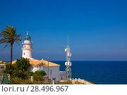 Купить «Cullera lighthouse in Valencia at Mediterranean sea of Spain», фото № 28496967, снято 10 сентября 2013 г. (c) Ingram Publishing / Фотобанк Лори