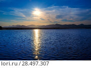 Купить «Ibiza ses Salines saltworks at sunset in Sant Josep at Balearic Islands of Spain», фото № 28497307, снято 10 июня 2013 г. (c) Ingram Publishing / Фотобанк Лори