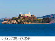 Купить «Alcatraz island penitentiary in San Francisco Bay California USA view from Pier 39», фото № 28497359, снято 20 апреля 2013 г. (c) Ingram Publishing / Фотобанк Лори