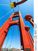 Golden Gate Bridge details in San Francisco California USA (2013 год). Стоковое фото, фотограф Tono Balaguer / Ingram Publishing / Фотобанк Лори