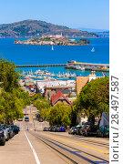 Купить «San francisco Hyde Street and Alcatraz Penitenciary California USA», фото № 28497587, снято 20 апреля 2013 г. (c) Ingram Publishing / Фотобанк Лори