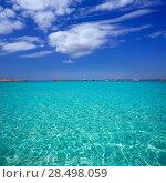 Купить «Illetes Illetas turquoise beach in Formentera Balearic Island», фото № 28498059, снято 4 июня 2013 г. (c) Ingram Publishing / Фотобанк Лори