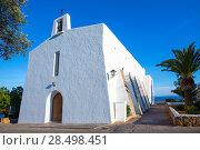 Купить «Ibiza Es Cubells church in san Jose at Balearic Islands of spain», фото № 28498451, снято 10 июня 2013 г. (c) Ingram Publishing / Фотобанк Лори