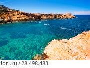 Купить «Ibiza Punta de Sa Galera beach in San Antonio at Balearic Islands Spain», фото № 28498483, снято 9 июня 2013 г. (c) Ingram Publishing / Фотобанк Лори