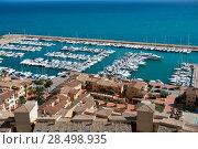 Купить «Moraira Club Nautico marina aerial view in Alicante Mediterranean sea of spain», фото № 28498935, снято 24 февраля 2019 г. (c) Ingram Publishing / Фотобанк Лори