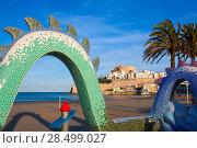 Купить «Peniscola Castle and beach in Castellon Valencian community of spain», фото № 28499027, снято 18 января 2019 г. (c) Ingram Publishing / Фотобанк Лори