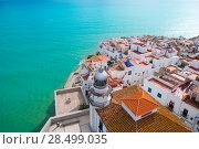 Купить «Peniscola beach and Village aerial view in Castellon Valencian community of spain», фото № 28499035, снято 18 января 2019 г. (c) Ingram Publishing / Фотобанк Лори