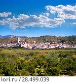 Sot de Ferrer whitewashed village in Valencia Spain (2007 год). Стоковое фото, фотограф Tono Balaguer / Ingram Publishing / Фотобанк Лори