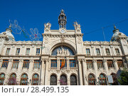 Купить «Correos building in Valencia in Plaza Ayuntamiento downtown at Spain», фото № 28499135, снято 22 апреля 2019 г. (c) Ingram Publishing / Фотобанк Лори