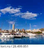 Купить «Alicante marina port boats in Mediterranean Spain Valencian Community», фото № 28499851, снято 21 января 2014 г. (c) Ingram Publishing / Фотобанк Лори