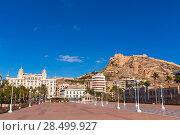 Купить «Alicante city and castle from port in Mediterranean spain Valencian Community», фото № 28499927, снято 21 января 2014 г. (c) Ingram Publishing / Фотобанк Лори
