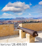 Купить «Alicante skyline and old canyons of Santa Barbara Castle in Spain», фото № 28499931, снято 21 января 2014 г. (c) Ingram Publishing / Фотобанк Лори