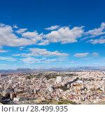 Купить «Alicante skyline aerial view from Santa Barbara Castle in Spain», фото № 28499935, снято 21 января 2014 г. (c) Ingram Publishing / Фотобанк Лори