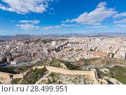 Купить «Alicante skyline aerial view from Santa Barbara Castle in Spain», фото № 28499951, снято 21 января 2014 г. (c) Ingram Publishing / Фотобанк Лори