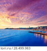 Купить «Benidorm Alicante sunset playa de Poniente beach in Spain Valencian community», фото № 28499983, снято 21 января 2014 г. (c) Ingram Publishing / Фотобанк Лори