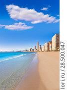 Benidorm Alicante Levante beach in blue Mediterranean Spain (2014 год). Стоковое фото, фотограф Tono Balaguer / Ingram Publishing / Фотобанк Лори