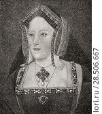 Купить «Catharine of Aragon, 1485-1536. Spanish Queen consort of England as the first wife of King Henry VIII of England and Princess of Wales as the wife to Arthur...», фото № 28506667, снято 26 марта 2019 г. (c) age Fotostock / Фотобанк Лори