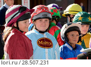 Купить «Pictured this afternoon - 17/10/16 Forget about the Grand National – the biggest horse-racing event on the calendar in Sussex starred junior jockeys racing...», фото № 28507231, снято 17 октября 2016 г. (c) age Fotostock / Фотобанк Лори