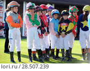 Купить «Pictured this afternoon - 17/10/16 Forget about the Grand National – the biggest horse-racing event on the calendar in Sussex starred junior jockeys racing...», фото № 28507239, снято 17 октября 2016 г. (c) age Fotostock / Фотобанк Лори