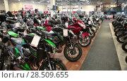 Купить «Дилерский центр по продаже мотоциклов и экипировки. Biketeam и All Right Europe Oy в Хельсинки, Финляндия», видеоролик № 28509655, снято 30 мая 2018 г. (c) Кекяляйнен Андрей / Фотобанк Лори