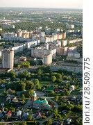 Купить «Рязань, вид сверху на микрорайон Московский», фото № 28509775, снято 27 мая 2018 г. (c) Инна Грязнова / Фотобанк Лори
