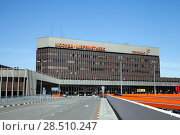 Sheremetyevo, Moscow - MAY 09, 2018: Terminal F of international airport (SVO) was opened on May 6, 1980 for the Moscow Summer Olympics. Редакционное фото, фотограф Юлия Кузнецова / Фотобанк Лори