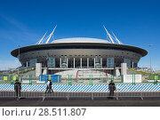 Купить «Футбольный стадион Санкт-Петербург», фото № 28511807, снято 13 мая 2018 г. (c) Геннадий Байдин / Фотобанк Лори