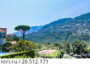 Отель Giordano.  Равелло, Амальфитанское побережье, Италия (2017 год). Редакционное фото, фотограф Николай Коржов / Фотобанк Лори