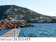 Купить «Port of Santa Eulalia. Santa Eulalia is a beautiful town and resort on the East coast of the Ibiza island. Spain», фото № 28513419, снято 29 апреля 2018 г. (c) Alexander Tihonovs / Фотобанк Лори