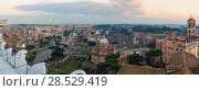 Rome City evening panorama, Italy. (2015 год). Редакционное фото, фотограф Юрий Брыкайло / Фотобанк Лори