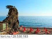 Купить «Tyrrhenian sea beach, Campania, Italy», фото № 28530183, снято 22 мая 2019 г. (c) Юрий Брыкайло / Фотобанк Лори
