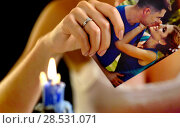 Купить «Wedding memories. Broken heart woman. Family break up.», фото № 28531071, снято 21 июля 2018 г. (c) Gennadiy Poznyakov / Фотобанк Лори