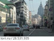 Купить «Москва, перспектива улицы Долгоруковской», эксклюзивное фото № 28531935, снято 1 мая 2018 г. (c) Дмитрий Неумоин / Фотобанк Лори