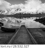 Купить «Reflection of clouds in water, Furry Creek, British Columbia, Canada», фото № 28532327, снято 22 марта 2016 г. (c) Ingram Publishing / Фотобанк Лори